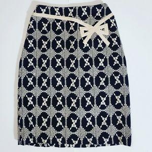 Anthropologie Nanette Lepore Cream & Black Skirt
